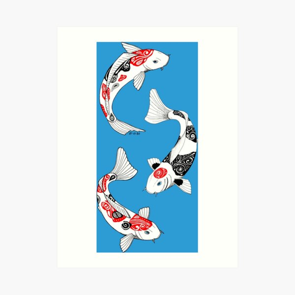 Fish carp koi (3) Art Print