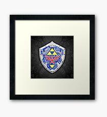 Zelda - Link Shield doodle Framed Print