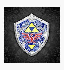 Lámina fotográfica Zelda - Link Shield Doodle