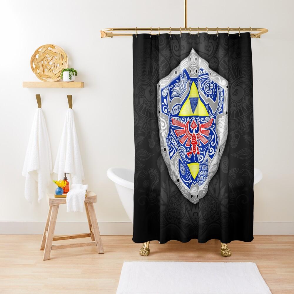 Zelda - Link Shield Doodle Cortina de ducha