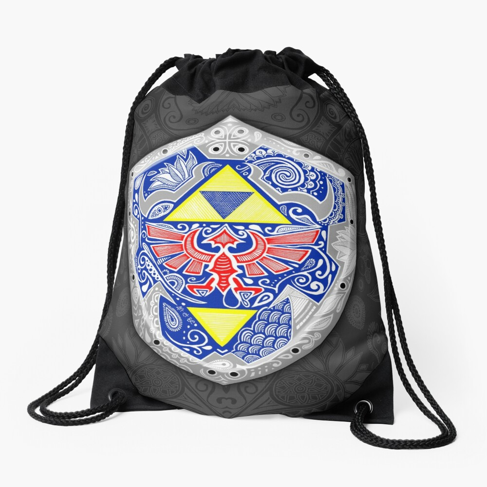 Zelda - Link Shield Doodle Mochila saco