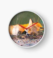 A sleeping fox Clock