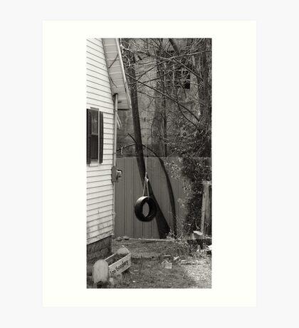 Backyard Swing Art Print