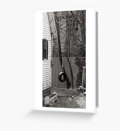 Backyard Swing Greeting Card