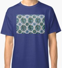 Painted Patterns - Azulejo Tiles in Blue and Green Classic T-Shirt