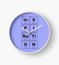 Elementos qumicos relojes redbubble reloj elementos qumicos inspiracin negro urtaz Image collections