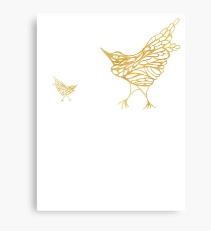 Gold Birds Canvas Print