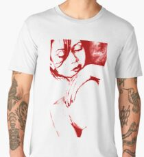 As Heaven Awaits: Red (sexy nude portrait drawing) Men's Premium T-Shirt