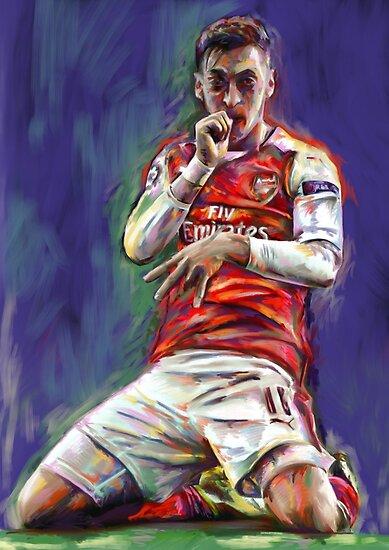 Mesut Ozil Feier von ArsenalArtz
