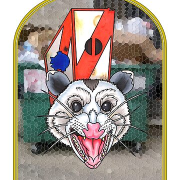 Possum Pope - Stained Glass by mfdeshonga