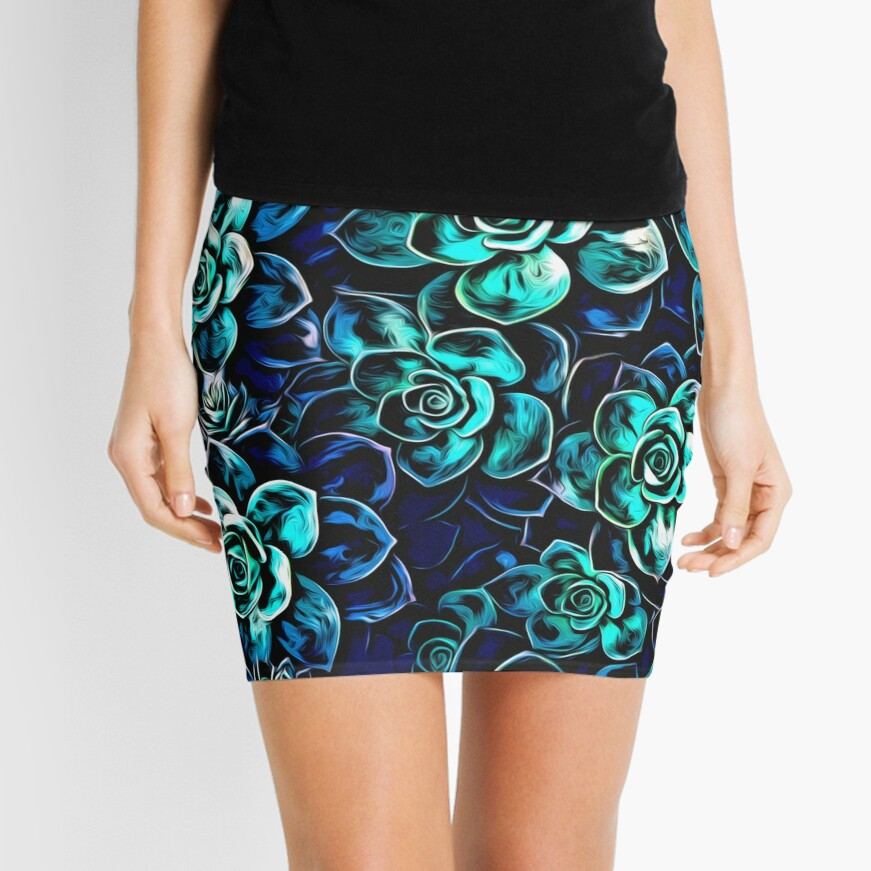 Succulent Plants Mini Skirt