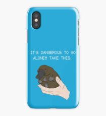 It's dangerous to go alone! Take this baby platypus! iPhone Case/Skin