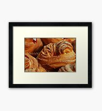 American cruffins with jam  Framed Print