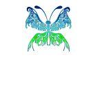 Schmetterling Glow von Frank Reubsaet