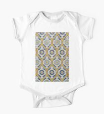Painted Patterns - Azulejo Tiles in Blue and Yellow Kids Clothes