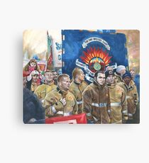 United. Fire Brigades Union March painting Canvas Print