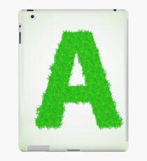 grass letter iPad Case/Skin