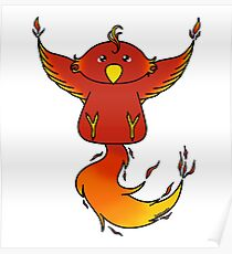 Cuddly Phoenix Poster