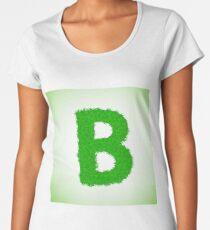 grass letter Women's Premium T-Shirt
