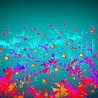 Flowers | Pop Art | Faerie Garden Vignette | Flower | by Nadia Bonello