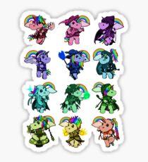 Fantasy Unicorn Pattern Sticker