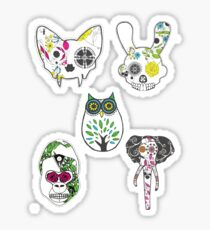 SugarSkull Animal Collection Pack Sticker