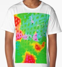 Colorful Abstract Watercolor Painting Background Long T-Shirt