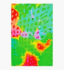 Colorful Abstract Watercolor Painting Background Photographic Print