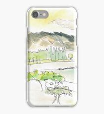 sketch_lake wakitapu nz iPhone Case/Skin