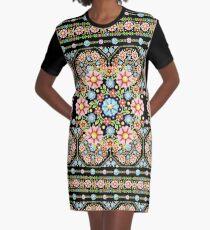 Millefiori Rosette Graphic T-Shirt Dress