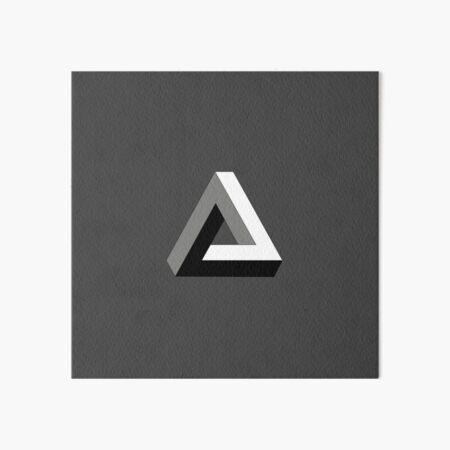 Penrose Triangle, Impossible Triangle Art Board Print