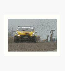 Touring car at Knockhill Art Print