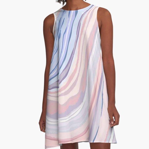Pastel Marble A-Line Dress