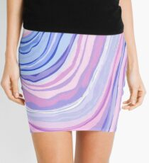 Purple Marble Mini Skirt