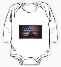 Memorial Day Iwo Jima Memorial One Piece - Long Sleeve