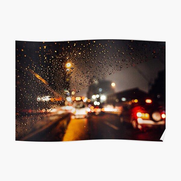 Rainy window Poster