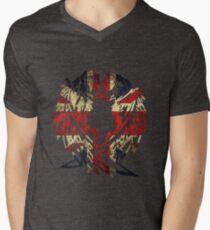 BRITAIN WOLF LOVE Men's V-Neck T-Shirt
