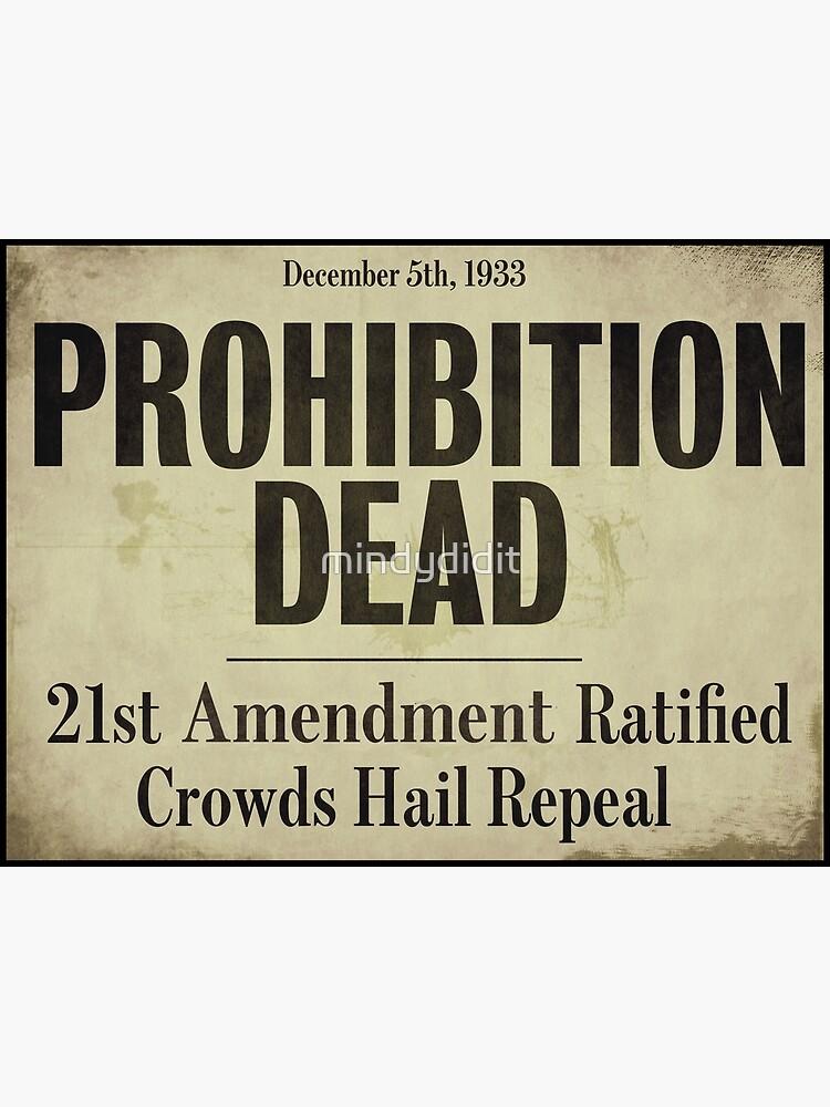 Prohibition Dead Newspaper Headline by mindydidit