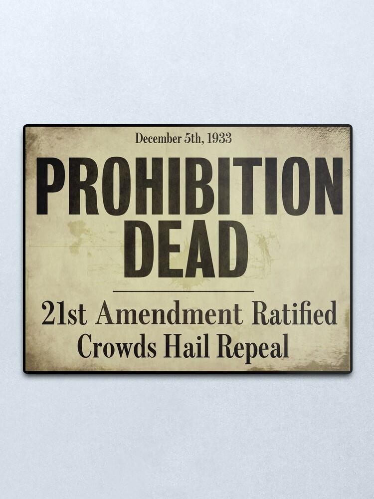 Alternate view of Prohibition Dead Newspaper Headline Metal Print