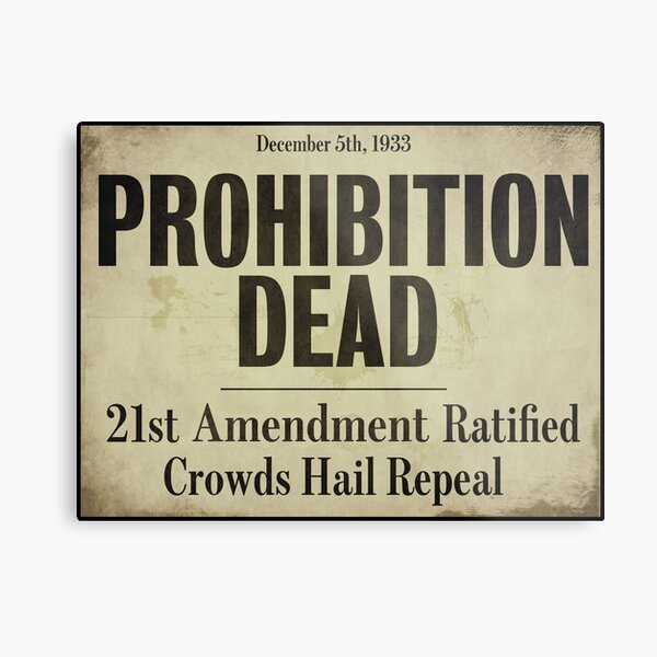 Prohibition Dead Newspaper Headline Metal Print
