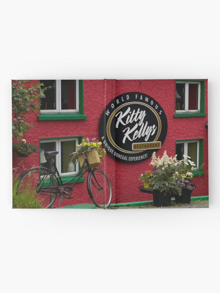 Alternate view of Kitty Kelly's restaurant, Donegal - wide Hardcover Journal