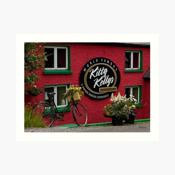 Kitty Kelly's restaurant, Donegal - wide Art Print