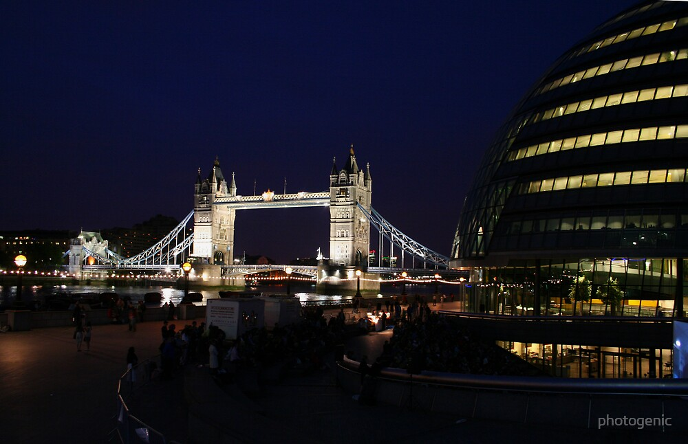 london at night by photogenic