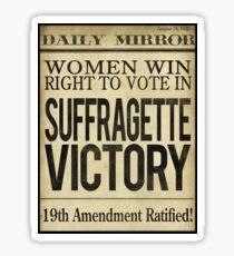 Suffragette Victory Frauen haben das Recht zu wählen Sticker
