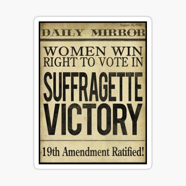 Suffragette Victory Women's Right to Vote Sticker
