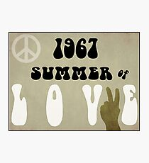 Summer of Love Headline 1967 Photographic Print