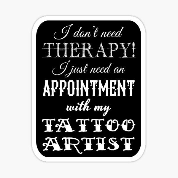 Tattoo Therapy Sticker
