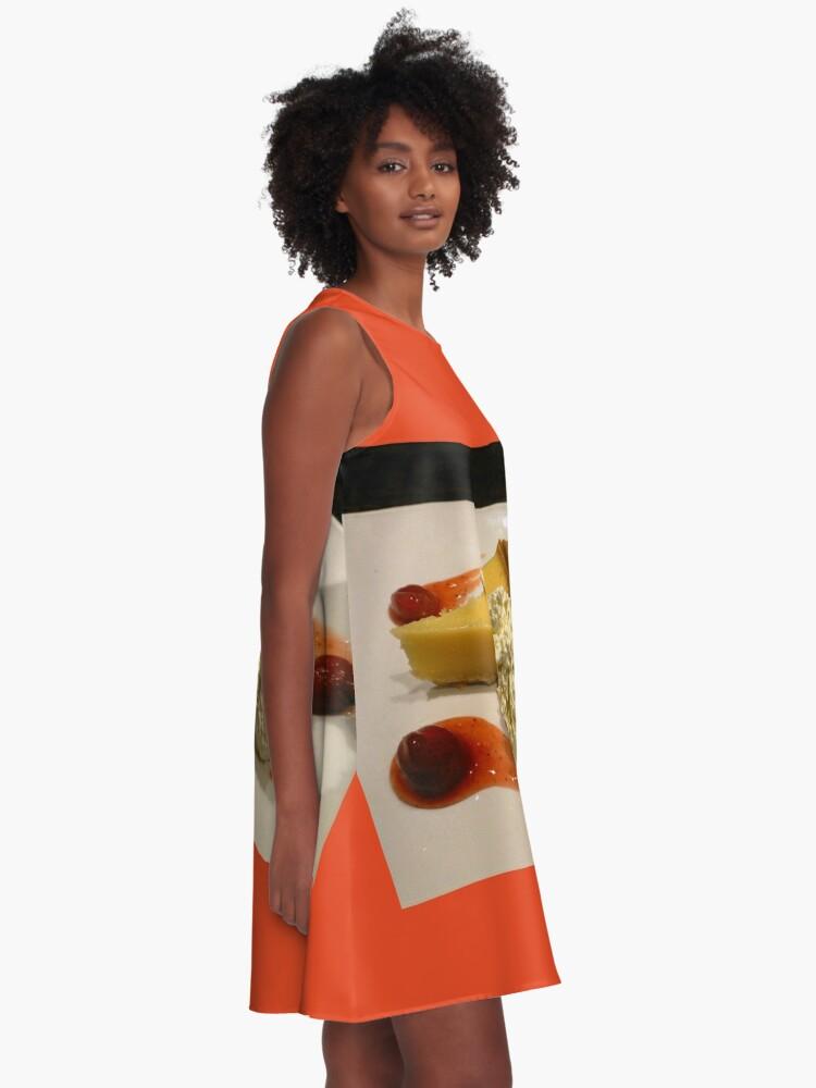 Alternative Ansicht von Lemon Pie with Whipped Cream A-Linien Kleid