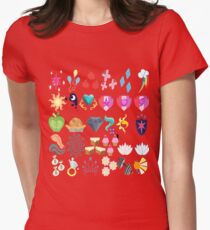 Cutie Marks Womens Fitted T-Shirt