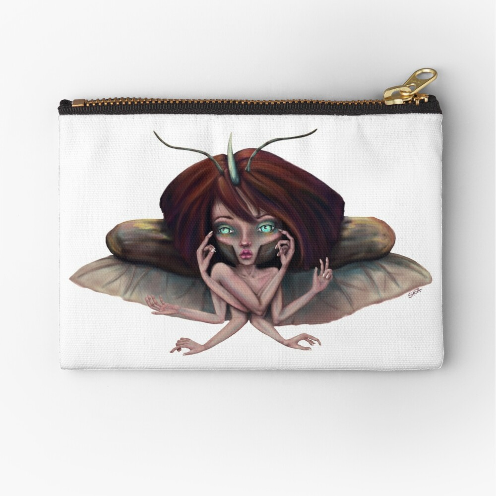 Giant Horned Beetles Have Many Talents Zipper Pouch